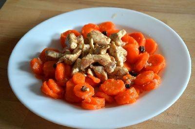 Salade épicée de carottes et poulet