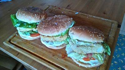 Burgers de poisson pané maison