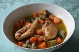 Poulet aux courgettes et aux carottes à l'orientale