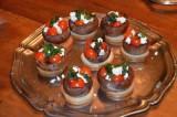 Tartines à l'ail feta et champignons