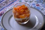 Verrines fraîches d'abricots